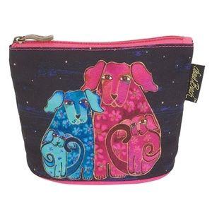 BOGO Cosmetic Makeup Canine Friends Dog Canvas Bag